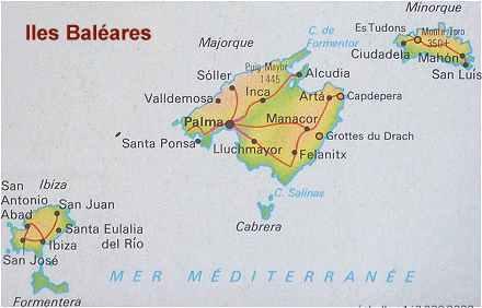 Iles baléares carte géographique » Vacances   Arts  Guides Voyages