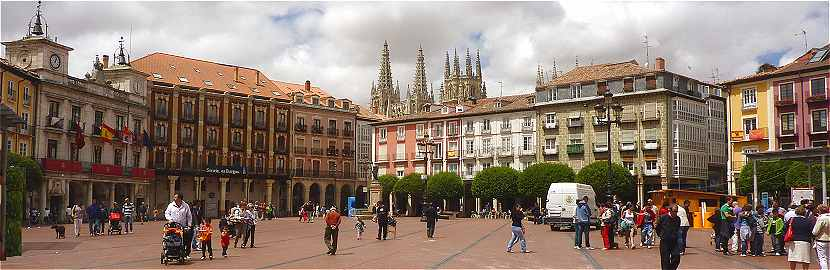 La Plaza Mayor à Burgos