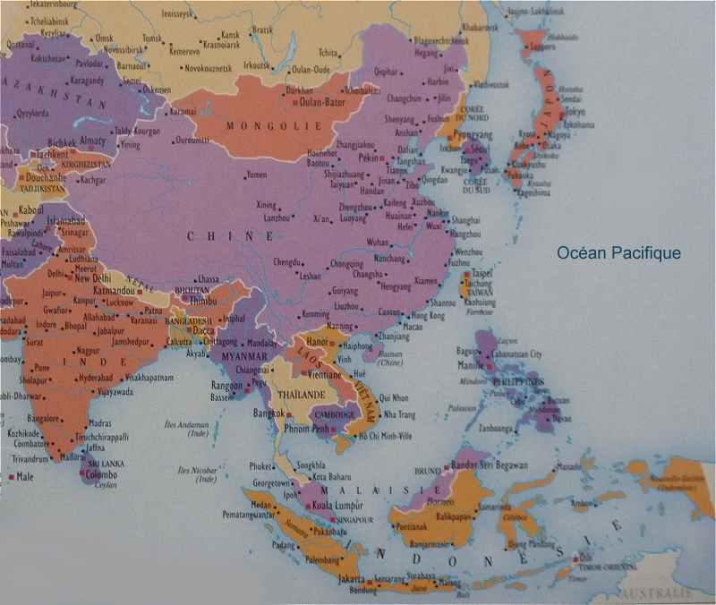 Lasie Du Sud Est Japon Chine
