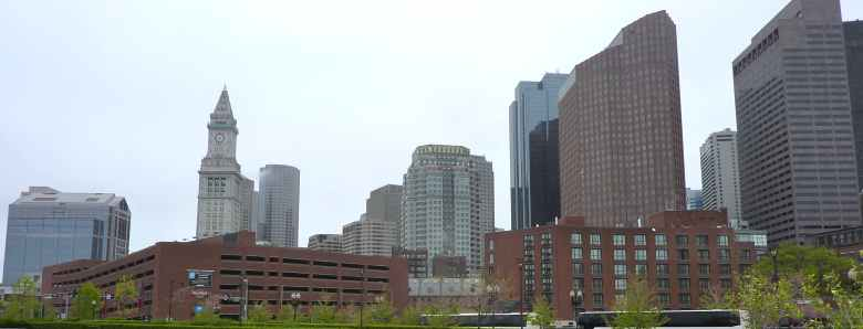 Panorama sur les immeubles du centre de Boston