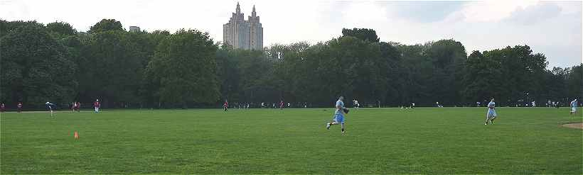 New-York: Great Lawn dans Central Park