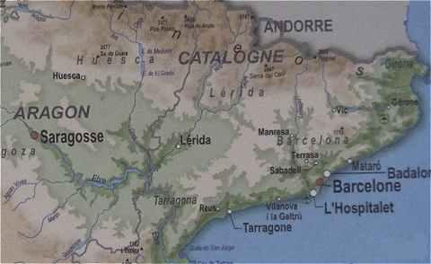 Carte Espagne Du Nord Est.L Espagne