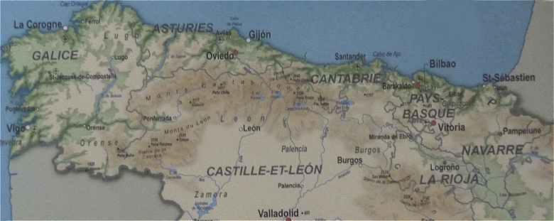 Carte Espagne Nord Tourisme.L Espagne