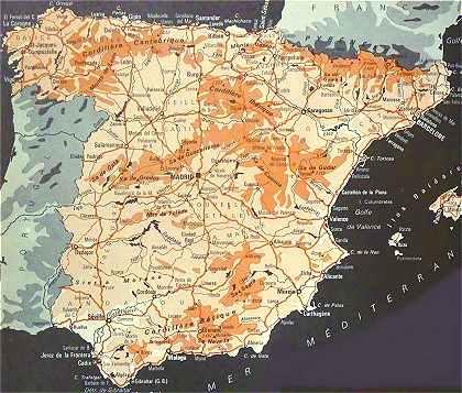 Carte Espagne Avec Hotel.L Espagne