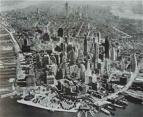 New-York: le sud de Manhattan en 1950