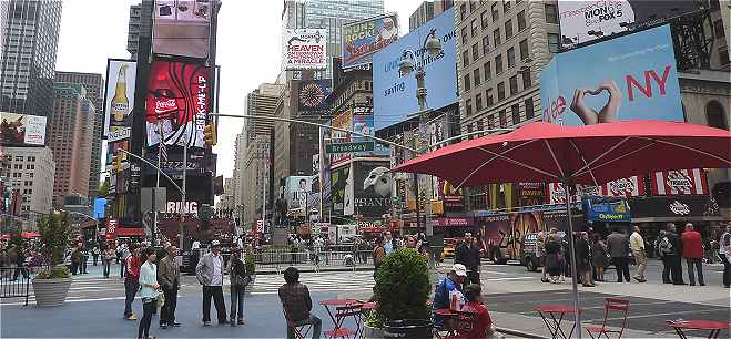 New-York: Times Square, la partie la plus animée de Manhattan